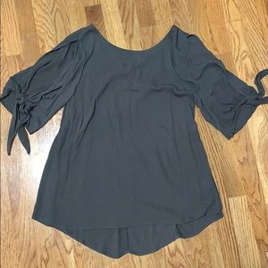 Olive Green Criss-cross Blouse | Medium